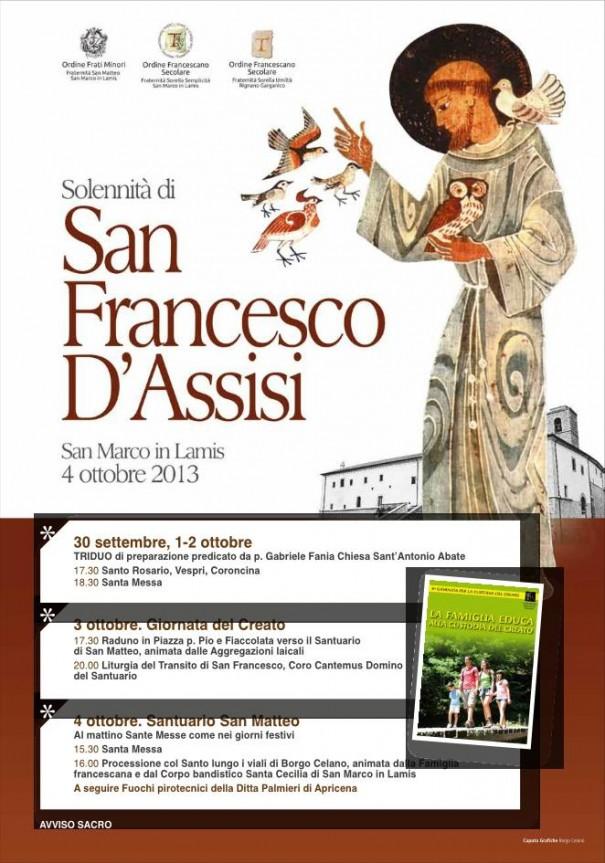 Manifesto San Francesco 2013